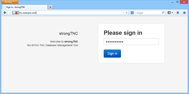 strongTNC Login