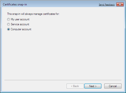 Storing a Windows 7 Machine Certificate - strongSwan