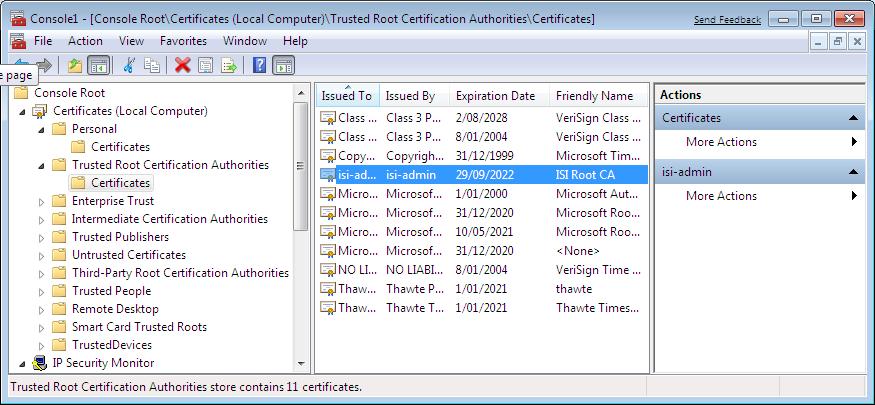 Storing A Windows 7 Machine Certificate Strongswan