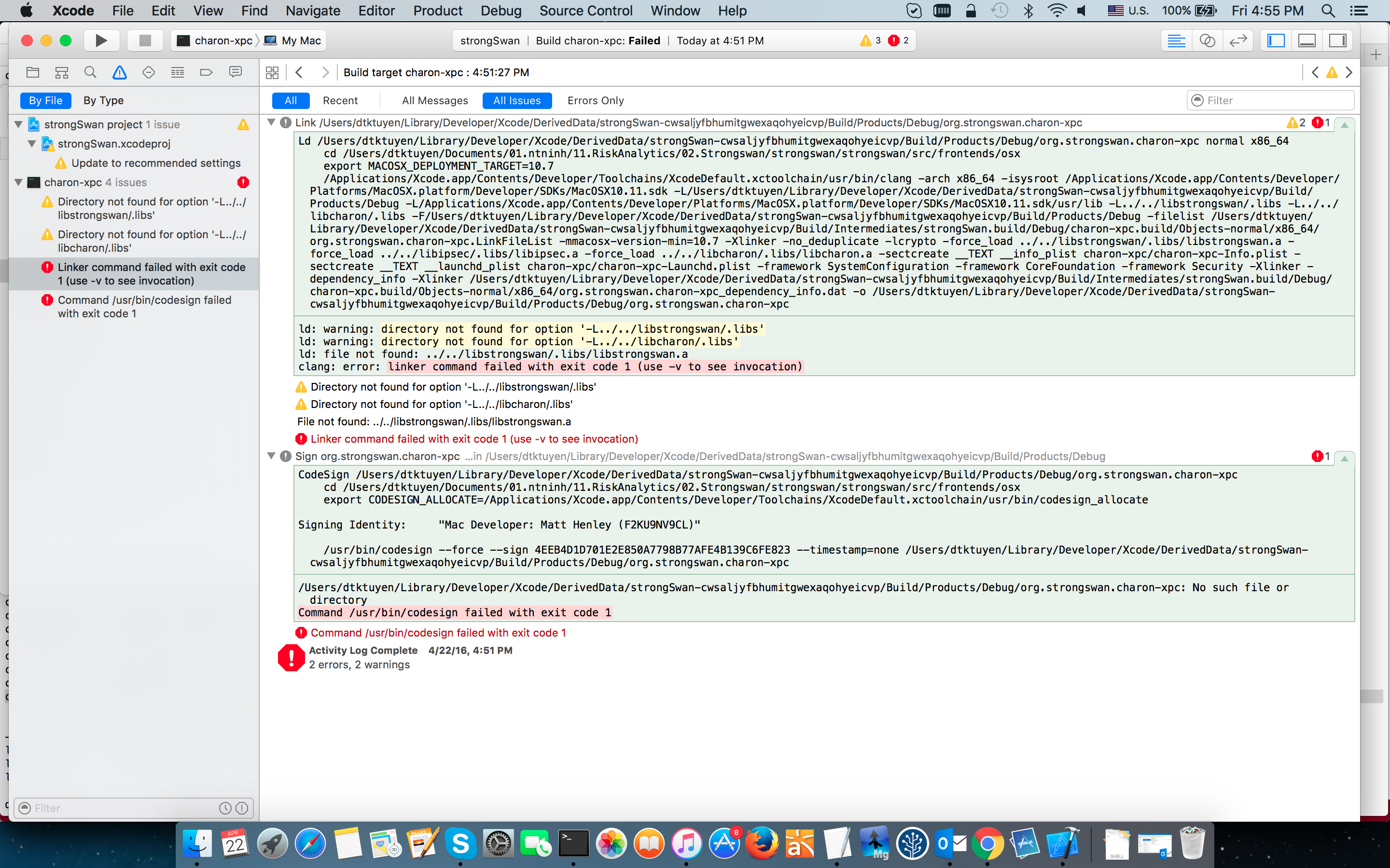 Issue 1423 Can Not Build To Debug Osx Source Code By Xcode